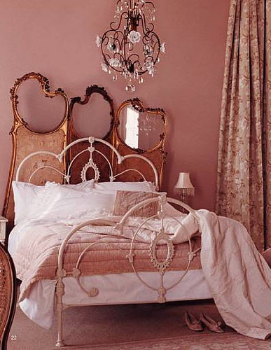 romantic pink bedroom