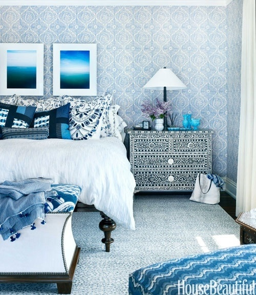 Superb Moroccan Bedroom Blue