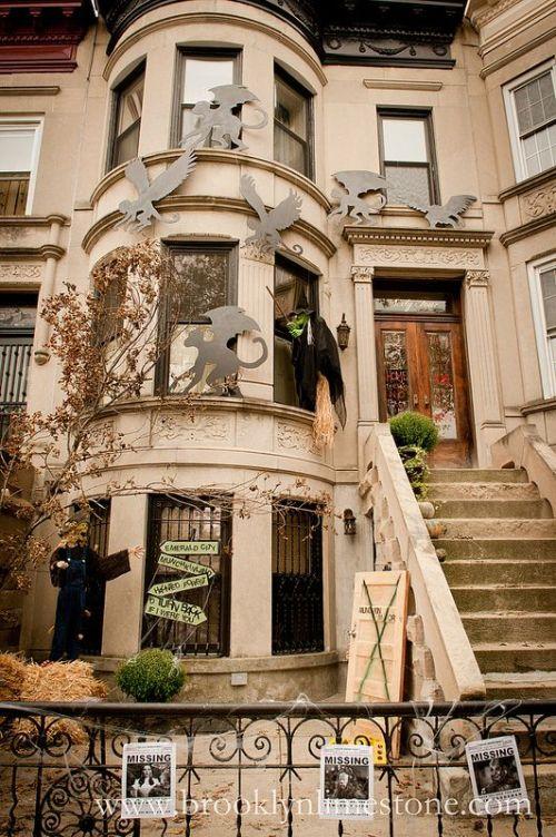 halloween decor brownstone