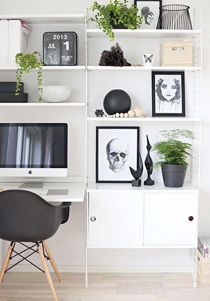 black n white apt living