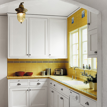 cool retro small kitchen