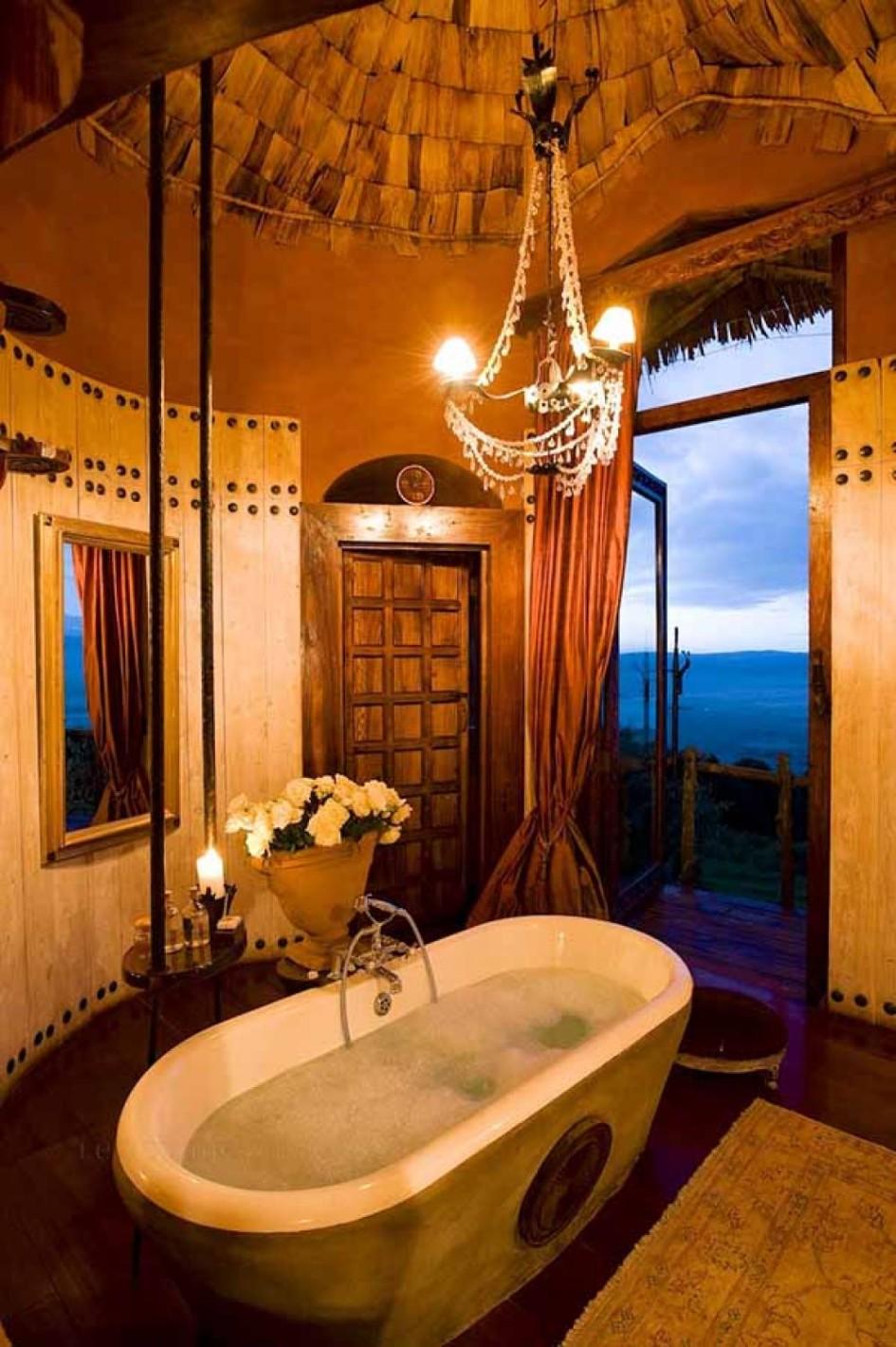 Creative living design for the apartment condo for Romantic bathroom designs