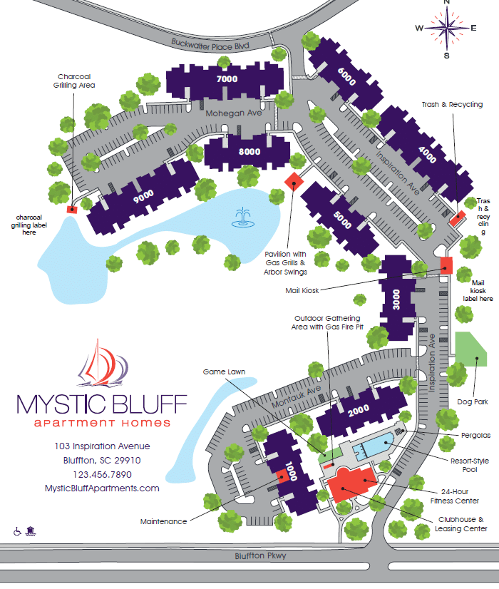 Site Map  Mystic Bluff Apartments