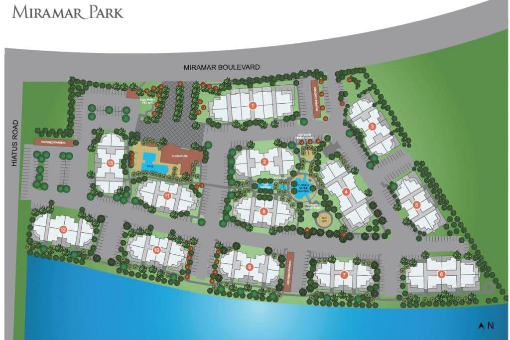 Community Site Map  Miramar Park Apartments in Miramar