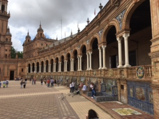 My Wife's Office: Plaza de Espana, Seville, Spain