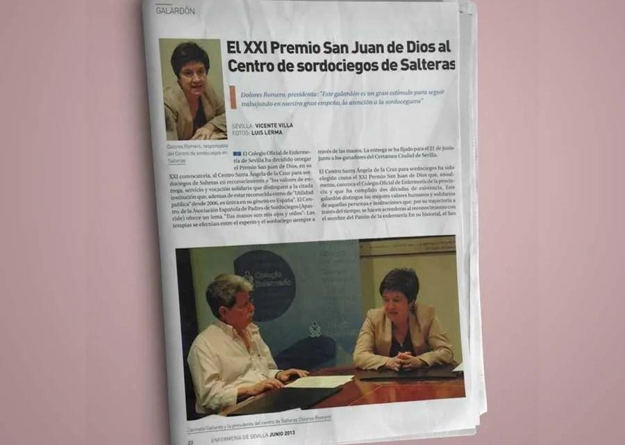 El XXI Premio San Juan de Dios, a APASCIDE