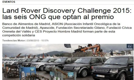 Land Rover Discovery Challenge elige a APASCIDE