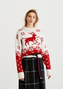 pull&bear Reindeer Christmas sweater