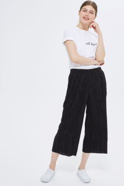 topshop PETITE Plisse Awkward Trousers