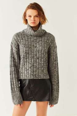 urban outfitters BDG Chunky Marled Turtleneck Jumper