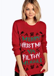 Erin Ya Filthy Muggle Christmas Jumper bohoo