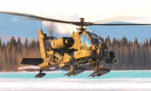 Israeli version of Apache helicopter with desert coloring
