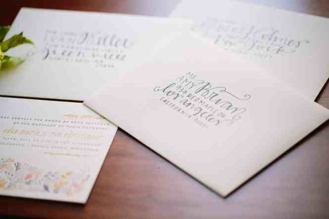 Printed Wedding Invitations Katharine White Formal With Large Fonts Size And Blue Ocean Envelope Grey Color Font Simple