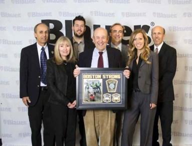 The Blauer Team Pictured above, left to right: Michael Blauer, Sharyn Proia, Adam Blauer, Charles Blauer (holding plaque) Billy Blauer Blauer (behind Charles), Ali Blauer, Stephen Blauer (on the end).