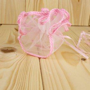 Fazzoletto tirante con bordo quadrettato rosa P2018R