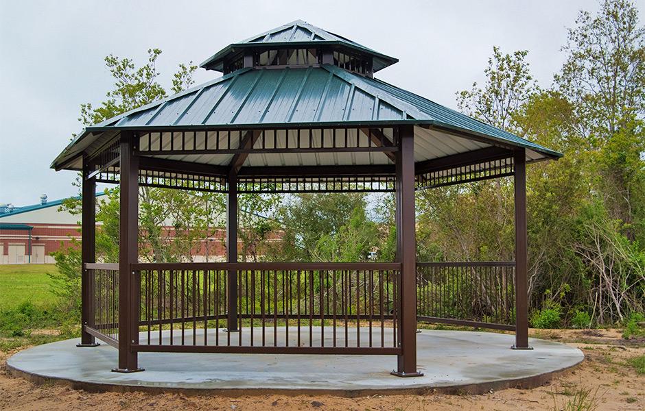 gazebos commercial steel shelters