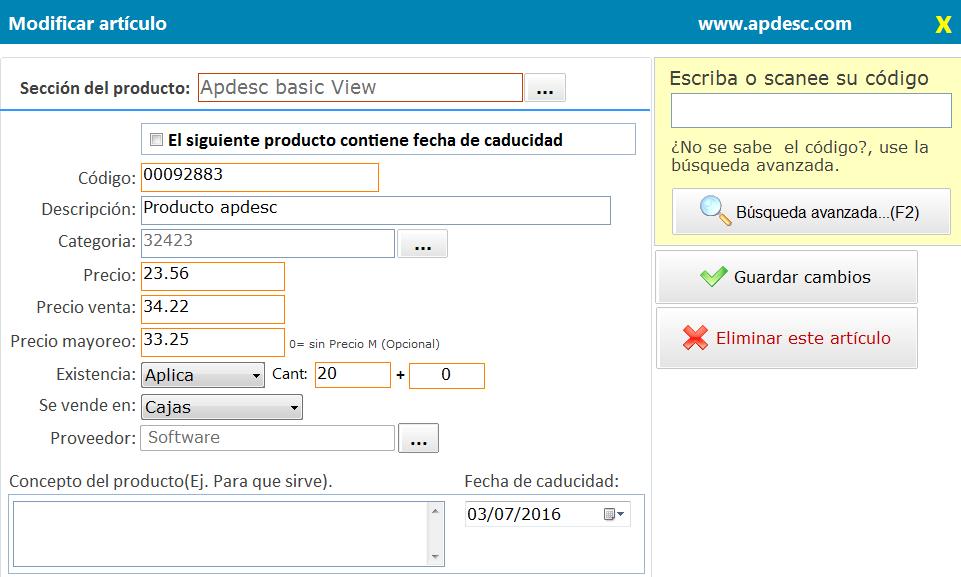 Apdesc basic View MySql Update 1(Correción de formatos de número y moneda)