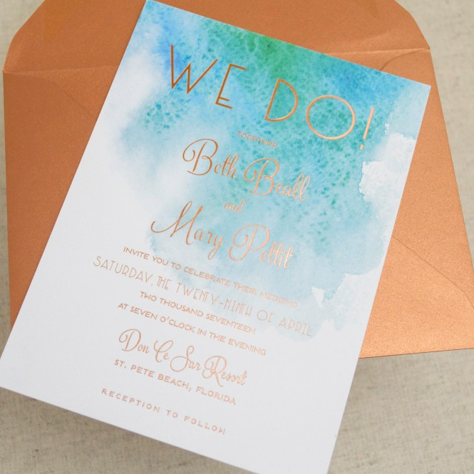 Brilliant Wedding Stationery Beach Invitations Plumegiant