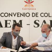 Firman convenio de colaboración SAPAC y la UAEM