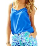 Lilly Pulitzer Lilly Lilac Nice Ink Buttercup Scallop Short