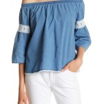 Joe's off the shoulder chambray top