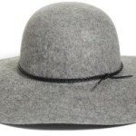 gray floppy hat