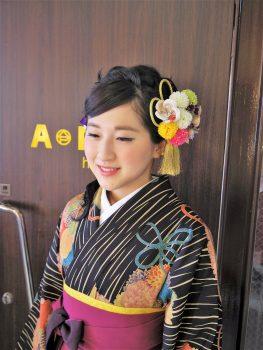 卒業式ヘアメイク袴の着付け8