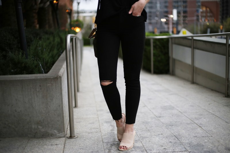 Distressed Black Jeans - A Pearl Kind of Girl