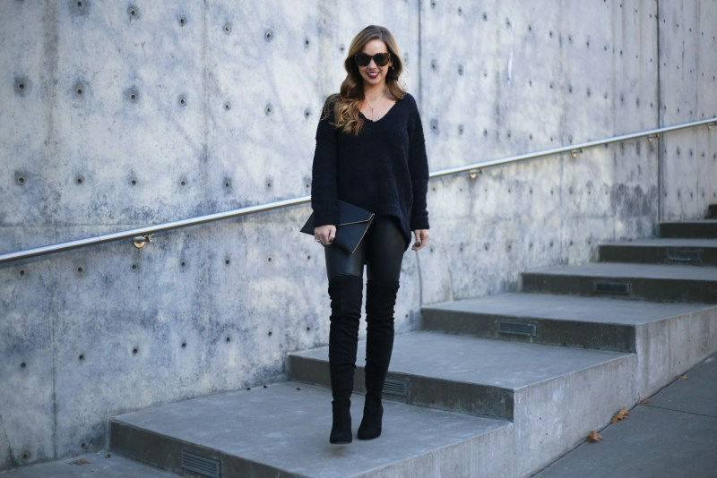 Oversized Black Sweater - A Pearl Kind of Girl