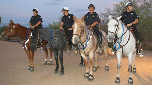 Scottsdale Mounted Police Demonstrated Skills at Cookout at the Ranch, 2010