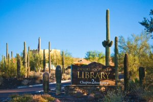 Desert Foothills Library Entrance