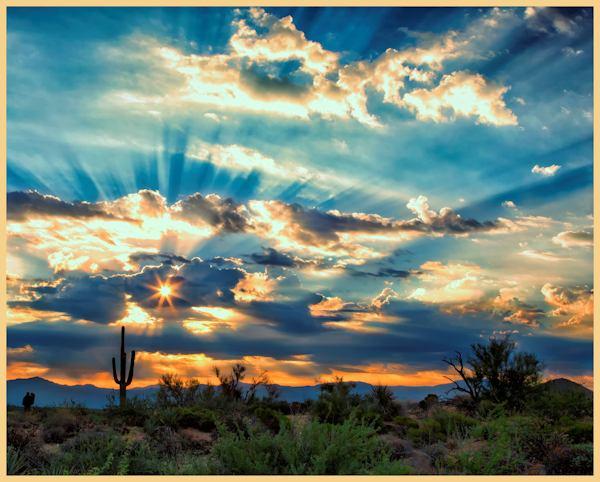 """""""McDowell Sonoran Preserve Sunrise"""" by Susan Q. Byrd"""