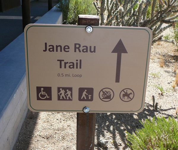 The trail includes easy to read interpretive signs.