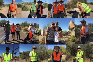 "Thanks to these volunteers, Scottsdale Road is a ""Clean & Scenic"" Drive."