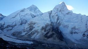 Everest and Nuptse from Kala Patthar (High Point of Trek at 18,514 ft.)