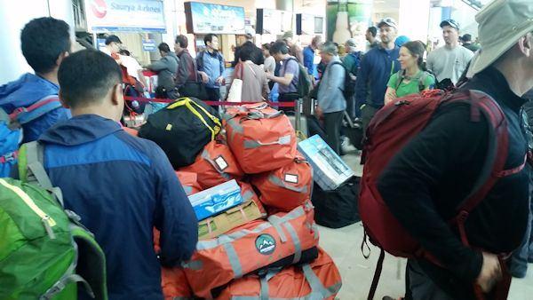 Baggage Weighed at Kathmandu Airport