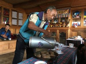 Tea and Snacks at a Sherpa Home