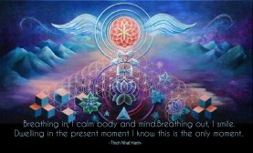 Breathing in, I calm body and mind. Breathing out, I smile. Dwelling in the present moment I know this is the only moment. ~Thich Nhat Hanh