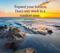 Expand your horizon. Don't stay stuck in a comfort zone. April Peerless SQMBP #WUVIP April Peerless SQMBP