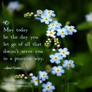 May today bring you joy. May today bring you love. May today be the day you let go of all that doesn't serve you in a positive way. April Peerless