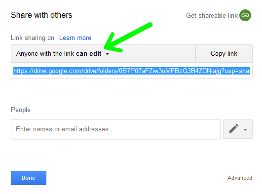 You can change your sharing options