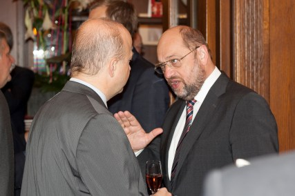 Michael Theurer, MEP and Vice President of the APE, and Martin Schulz, President of ther European Parliament and member of the APE