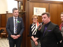 Mairead McGuinness, Irish Vice-President of the European Parliament, Herbert Dorfmann, MEP and President of the APE, and Frank Power, Deputy Permanent Representative of Ireland to the Council of Europe