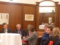 Herbert Dorfmann, MEP and President of the APE, Jean Arthuis, MEP, Michael Gahler, MEP and Vice President of the APE, Mercedes Bresso, MEP and Vice President of the APE, and His Excellency Rolands Lappuke, Ambassador of Latvia, member of the APE
