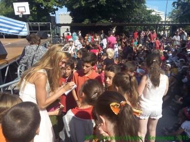 Nos enfants avec Miss Grasse 2015