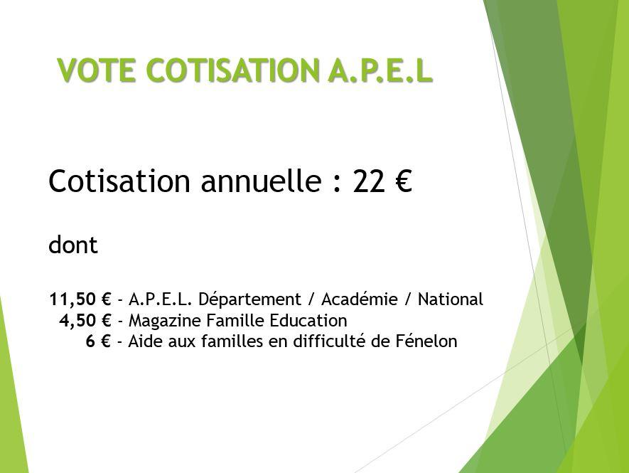 La Cotisation Fénelon