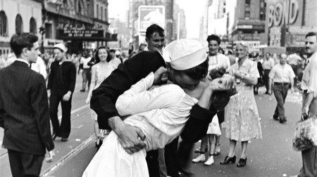 V-J Day in Times Square By Photojournalist Alfred Eisenstaedt