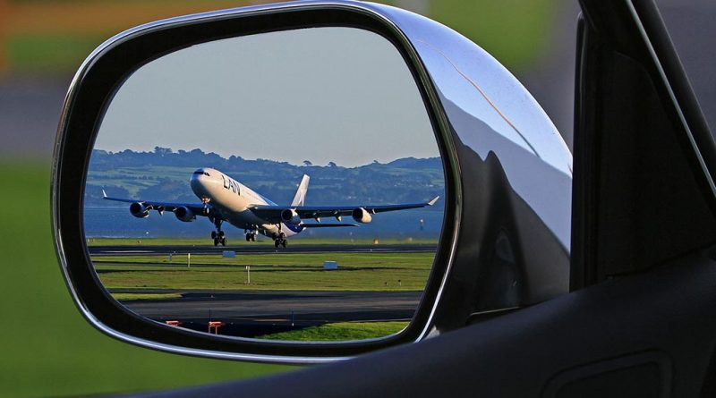 aviao retrovisor