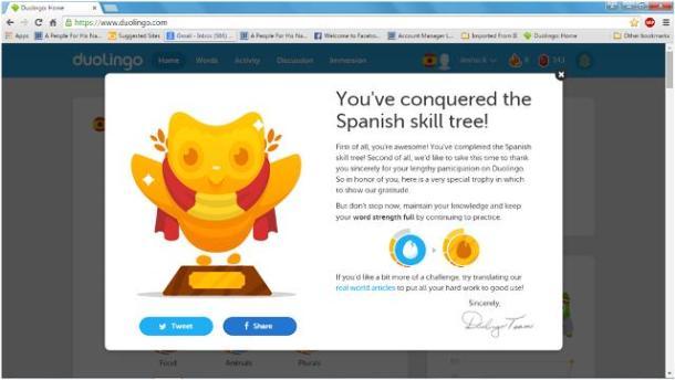 Duolingo Trophy