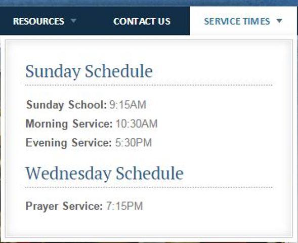 Service schedule MCBC post